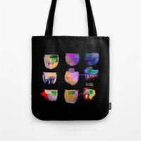 neon Tote Bags featuring neon by clemm