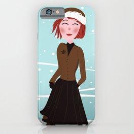Dreamgirl Katie in Winter iPhone Case