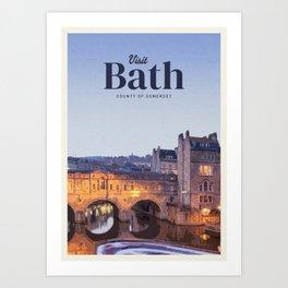 Visit Bath Art Print