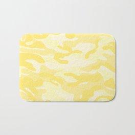 light Yellow Military Camouflage Pattern Bath Mat