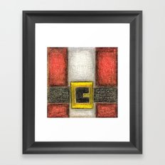 Santa Front & Belt Framed Art Print