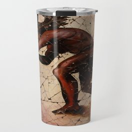Kokopelli, The Flute Player Fresco Wall Art Travel Mug