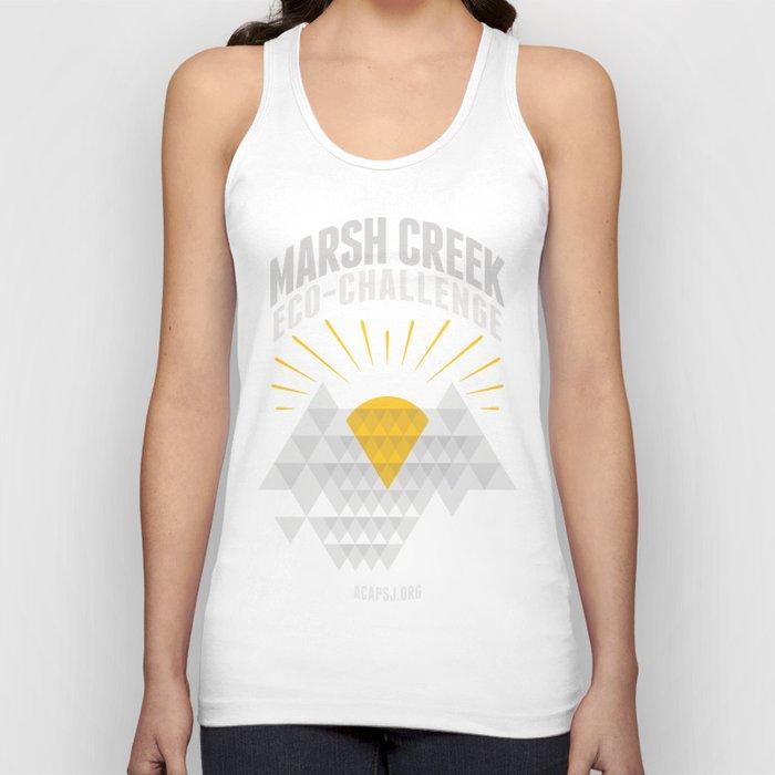 Marsh Creek Eco-Challenge 2015; Shirt Art Unisex Tank Top