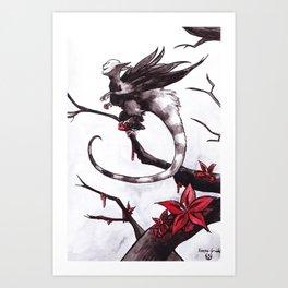 Harpie grièche (Shrike Harpy) Art Print
