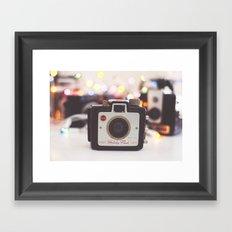 Twinkling Lights Framed Art Print
