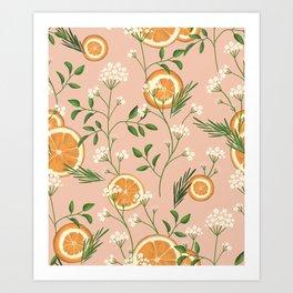 Elderflower & Oranges - Pastel Art Print