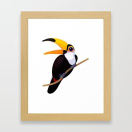 Exotic toucan. Vector graphic character Framed Art Print