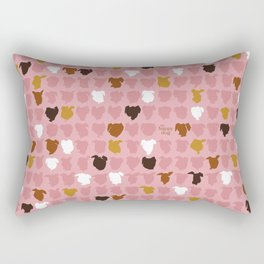 Bandit - pink pattern Rectangular Pillow