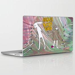 Hug, Kiss, Touch me Laptop & iPad Skin