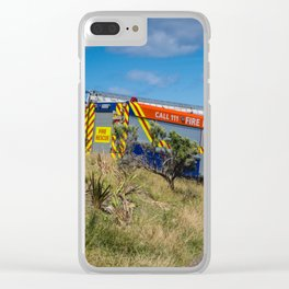 Fire Engine On The Coast Clear iPhone Case