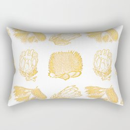 Golden Australian Native Florals Rectangular Pillow
