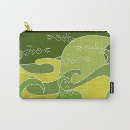 Waves V green colors V Duffle Bags Carry-All Pouch