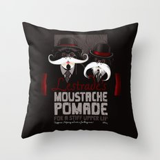 Lestrade's Moustache Pomade Throw Pillow