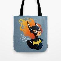 batgirl Tote Bags featuring Batgirl by Станислава Коробкова
