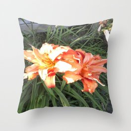 Flowery Day Throw Pillow