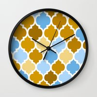 moroccan Wall Clocks featuring Moroccan  by Saundra Myles