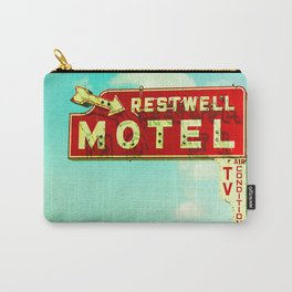 Restwell Motel Sign  Carry-All Pouch