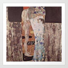 Gustav Klimt - The Three Ages of Woman Art Print