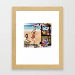 Summer girls Framed Art Print