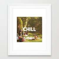 chill Framed Art Prints featuring Chill by eARTh