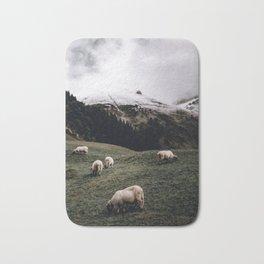 Sheep II / Bavarian Alps Bath Mat