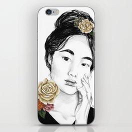 Flower sun bursts - floral portait 3 of 3 iPhone Skin