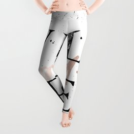 Wild and Free Rose Gold on White Leggings
