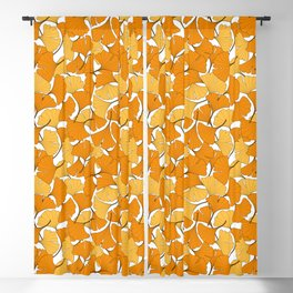 ginkgo leaves (orange) Blackout Curtain