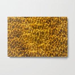 Seafloor with reflecting light Metal Print