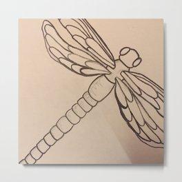 Dragonfly freedom Metal Print