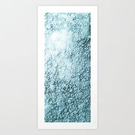 Garrett Browning Blue Pebbles Art Print