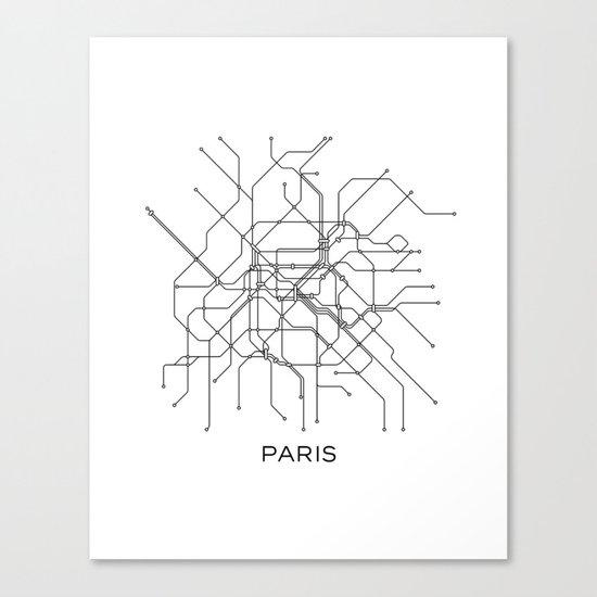 Subway Map Graphic Design.Paris Metro Map Subway Map Paris Metro Graphic Design Black And White Canvas Metropolian Art Canvas Print