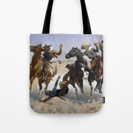 Frederic Remington Aiding a Comrade 1890 Tote Bag