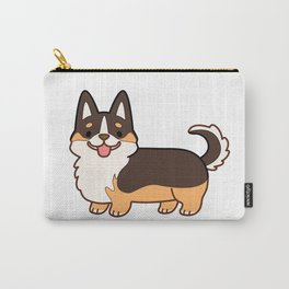 Keep calm and corgi on - tricolor Carry-All Pouch