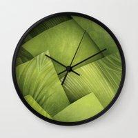 grass Wall Clocks featuring Grass by Yevheniia Hlova