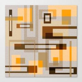 Mid Century Modern Blocks on Sand Canvas Print