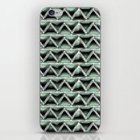 malachite iPhone & iPod Skins featuring Malachite Triangles by naturessol