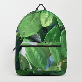 Elegant Branches Of Chic Green Leaves Backpack