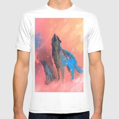 howling White Mens Fitted Tee MEDIUM
