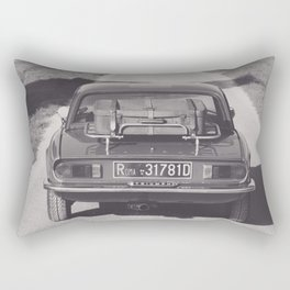 Triumph spitfire on a gravelly road in southern Italy, english sports car, fine art photography Rectangular Pillow