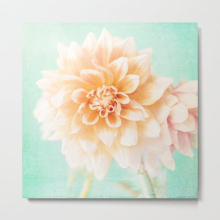Flower Peachy Bloom Metal Print
