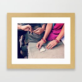 Nice India Helping us Framed Art Print