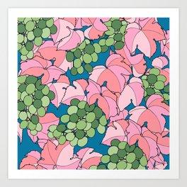 Pink Grapes Art Print