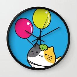 mochi neko Wall Clock