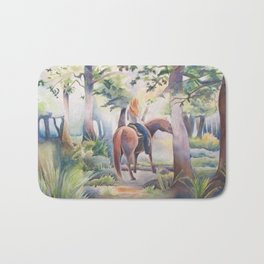 Quiet Woodland Horse Ride Bath Mat