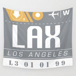 LAX International Travel Ticket Wall Tapestry