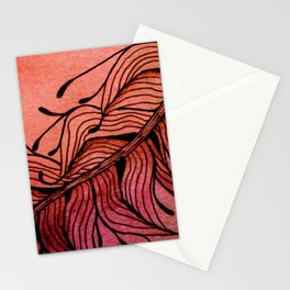 Doodled Autumn Feather 01 Stationery Cards