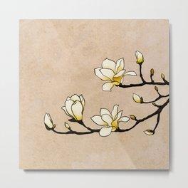 Oriental Magnolias Metal Print
