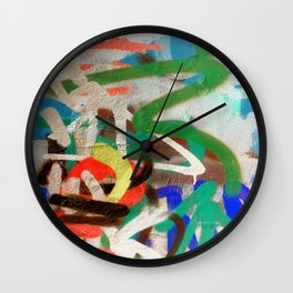 Street Art Graffiti Photography by Dominic Joyce Wall Clock