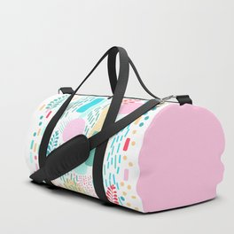 Abstract Nature - Colourful Doodle Pattern 3 Duffle Bag